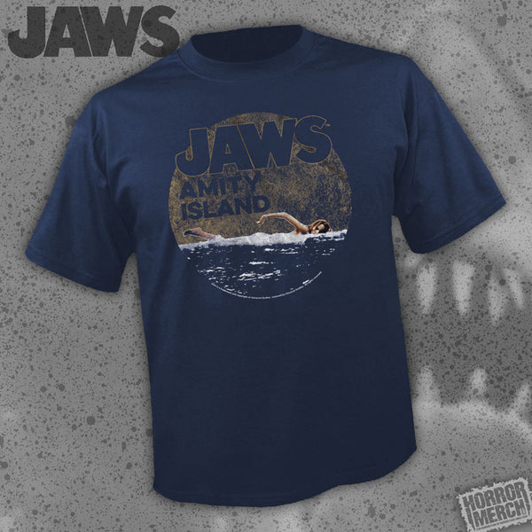 Jaws - Amity Swimmer (Navy) [Mens Shirt] - Pre-Order