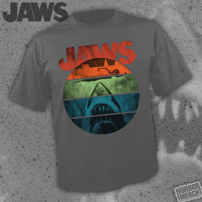Jaws - Rainbow (Charcoal) [Guys Shirt]