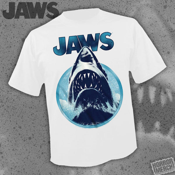 Jaws - Burst (White) [Mens Shirt] - Pre-Order