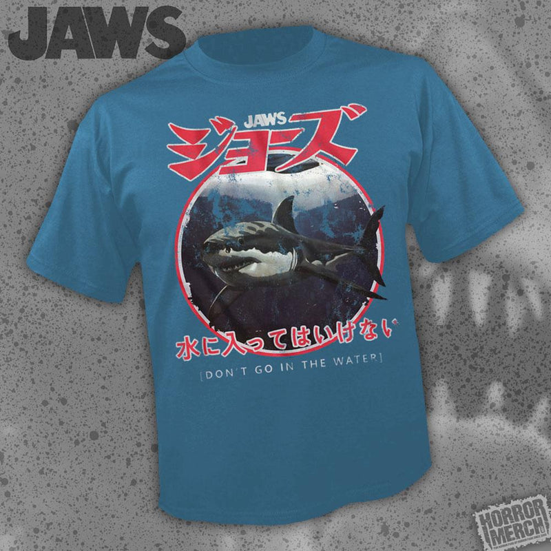 Jaws - Dont Go In The Water (Blue) [Womens Shirt] - Pre-Order