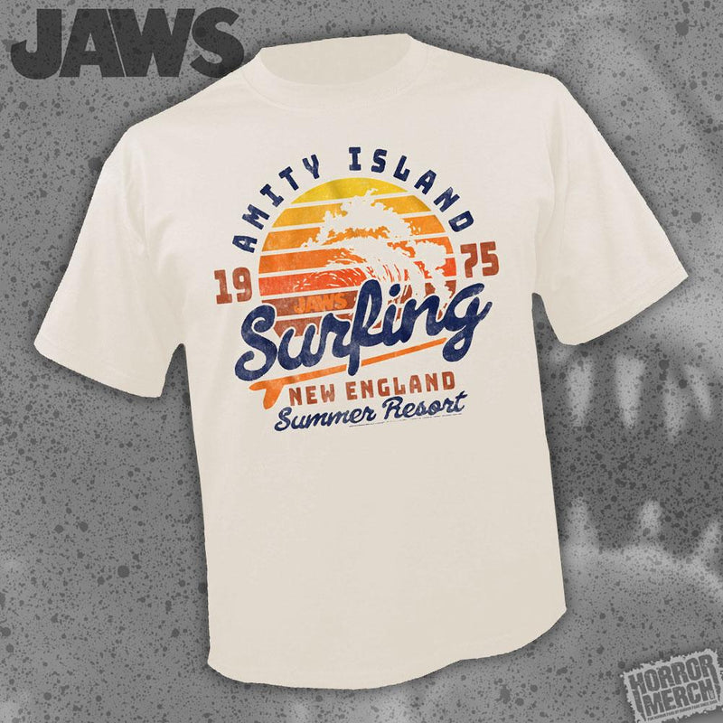 Jaws - Surfing (Cream) [Womens Shirt] - Pre-Order