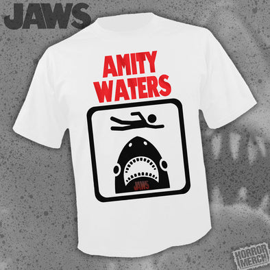 Jaws - Amity Waters (White) [Guys Shirt]