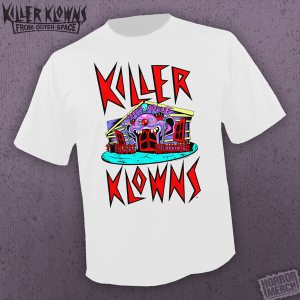 Killer Klowns From Outer Space - Funhouse (White) [Mens Shirt] - Pre-Order