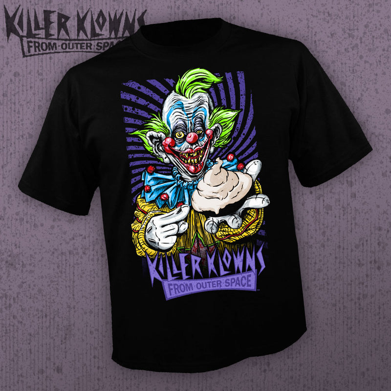 '- Killer Klowns From Outer Space - Shorty [Horrormerch Exclusive - Mens Shirt] - Pre-Order