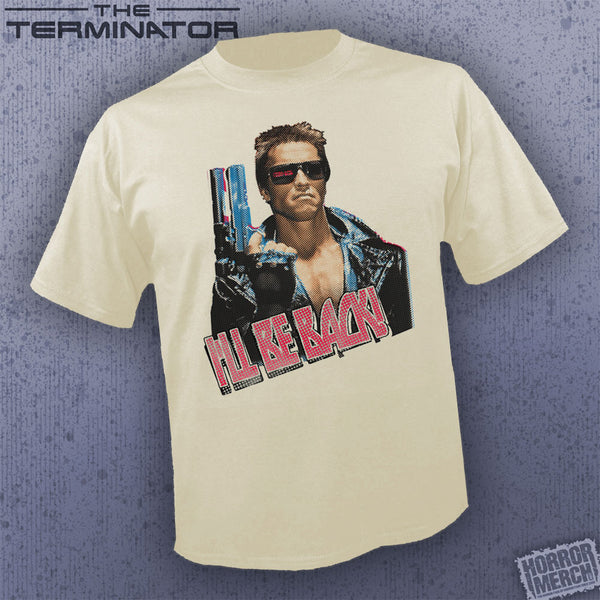 Terminator - I'll Be Back (Cream) [Mens Shirt] - Pre-Order