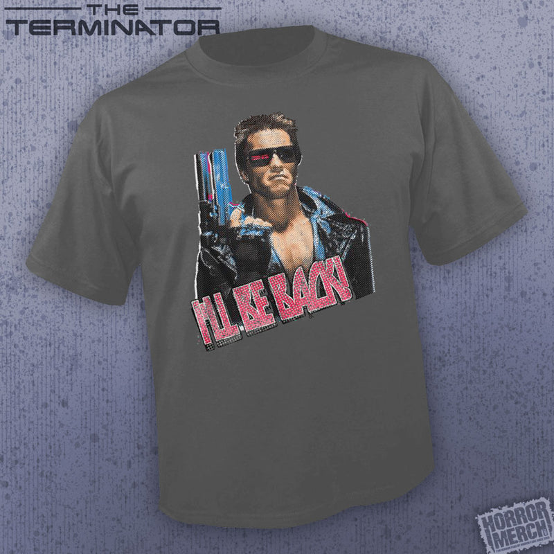 Terminator - I'll Be Back (Gray) [Mens Shirt] - Pre-Order