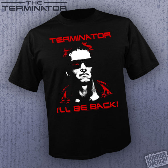 Terminator - I'll Be Back Red Logo [Guys Shirt]
