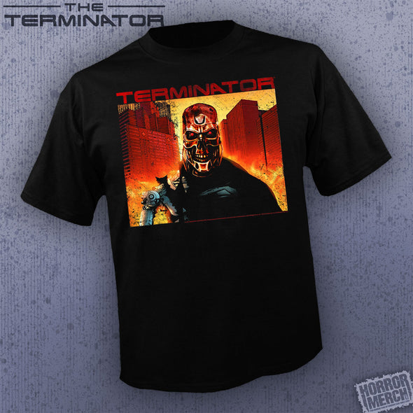 Terminator - Endoskeleton Battle [Guys Shirt]