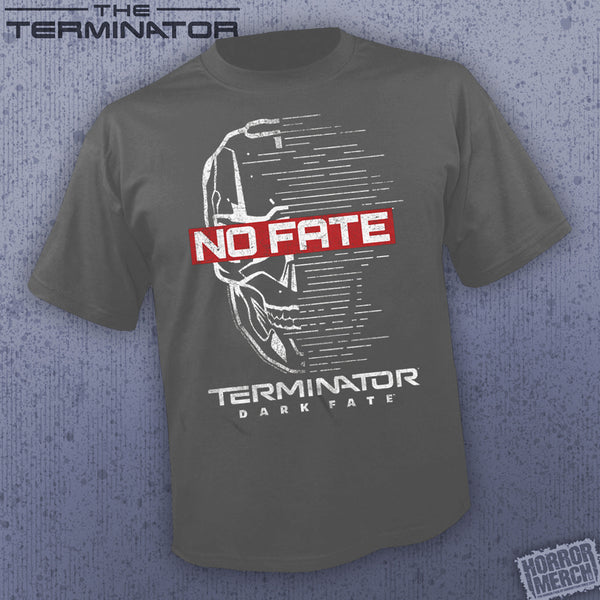Terminator - No Fate (Charcoal) [Mens Shirt] - Pre-Order