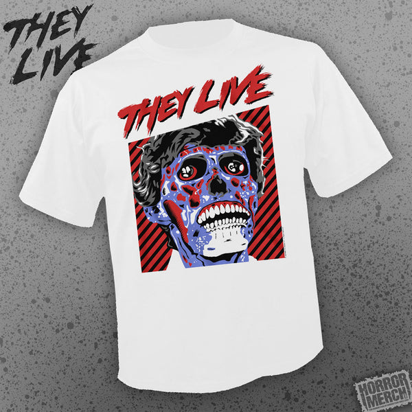 They Live  - Alien Close Up (White) [Mens Shirt] - Pre-Order