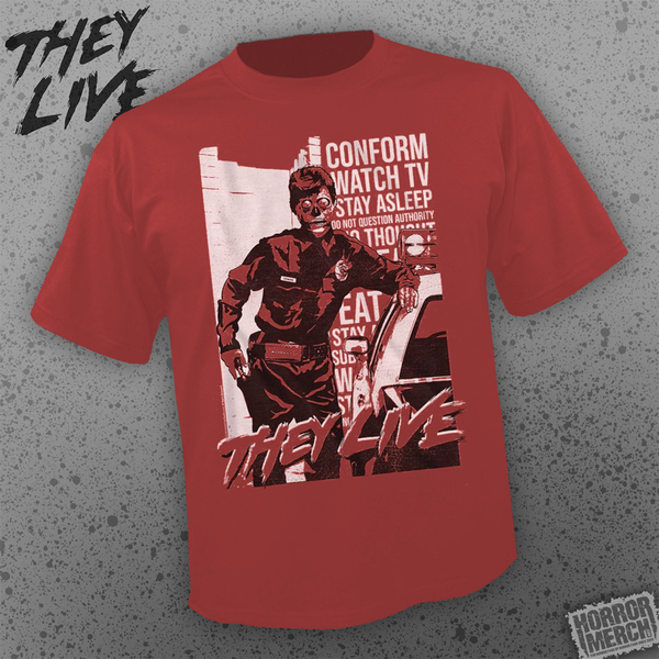 They Live  - Police (Red) [Mens Shirt] - Pre-Order