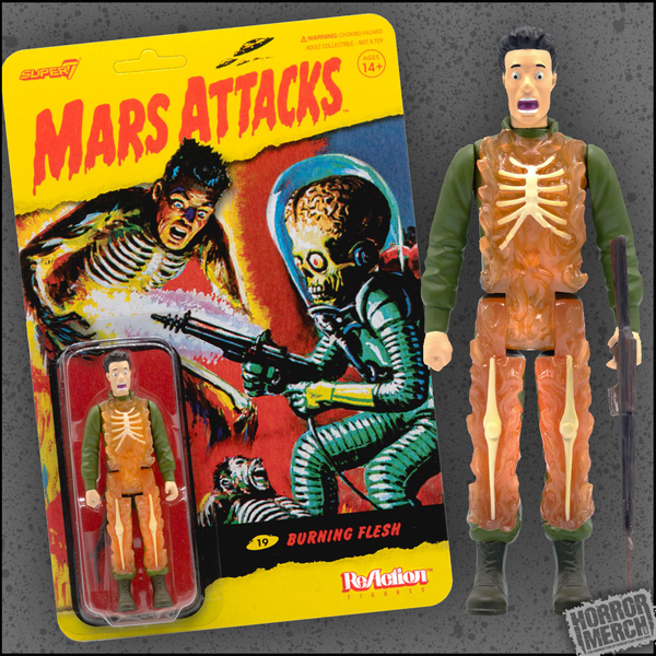Mars Attacks - Burning Soldier 3.75 Inch [Figure]