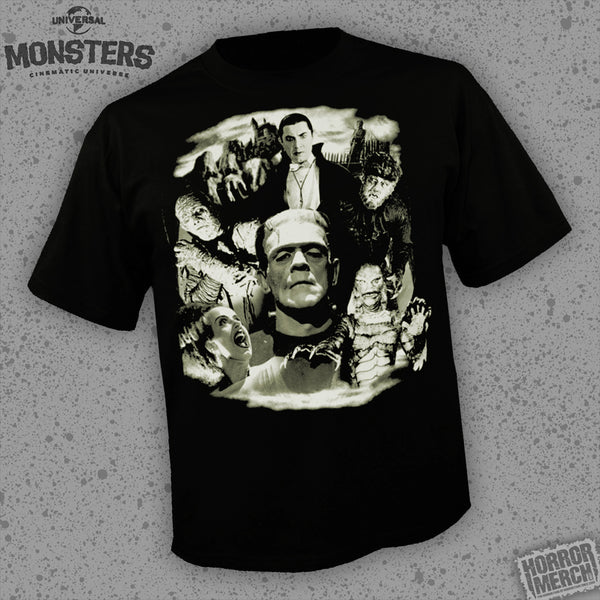Universal Monsters - Collage (Glows In The Dark) [Mens Shirt] - Pre-Order