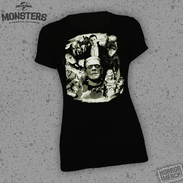 Universal Monsters - Collage (Glows In The Dark) [Womens Shirt] - Pre-Order