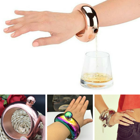 Stylish Bangle Hip Flask