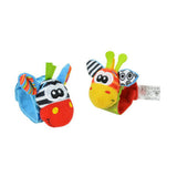Cute Animal Foot Finder and Wrist Rattle Set