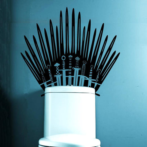 Iron Throne Toilet Decal