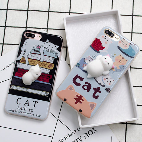 3D Lazy Cat Phone Case