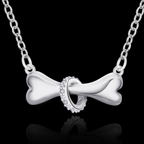 Dog Bone Pendant Necklace