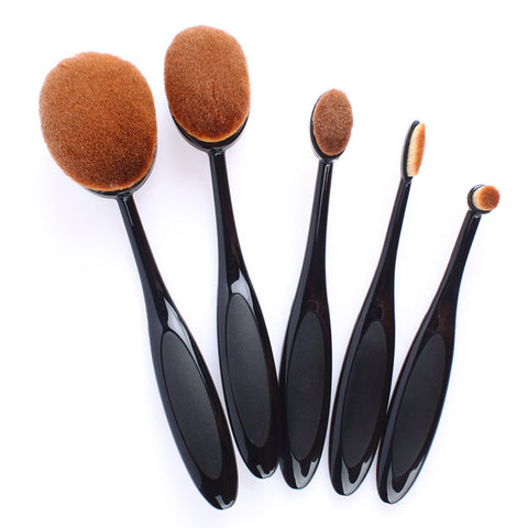 Precision Oval Makeup Brush Set