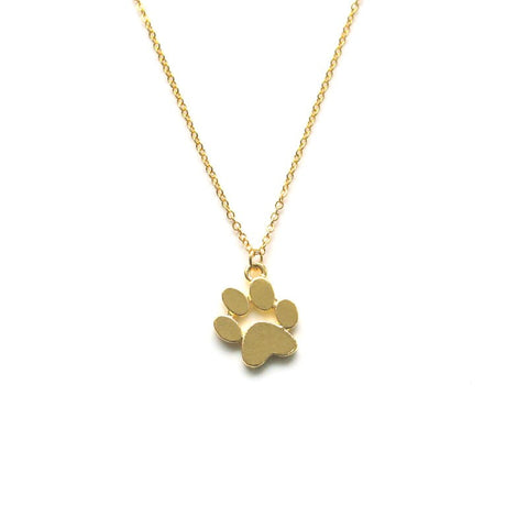 Gold Dog Paw Necklace