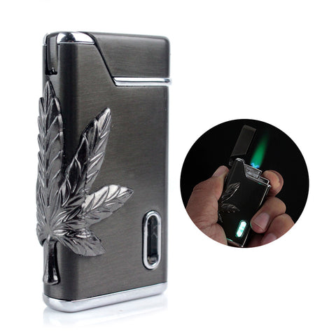 Leaf Flash Green LED Lighter