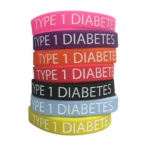 Type 1 Diabetic Silicone Wristband