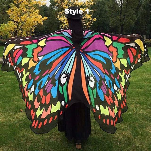 Butterfly Chiffon Winged Cape