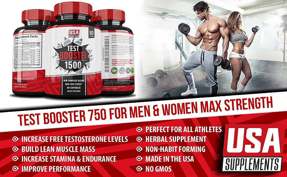 Test Booster with Estrogen Blocker | Post Cycle Therapy Supplement | Muscle Builder | Libido Booster