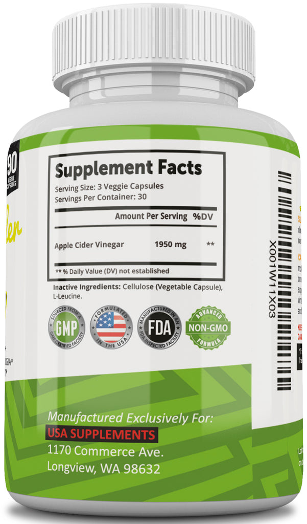 Apple Cider Vinegar Pills for Weight Loss From U S A  SUPPLEMENTS