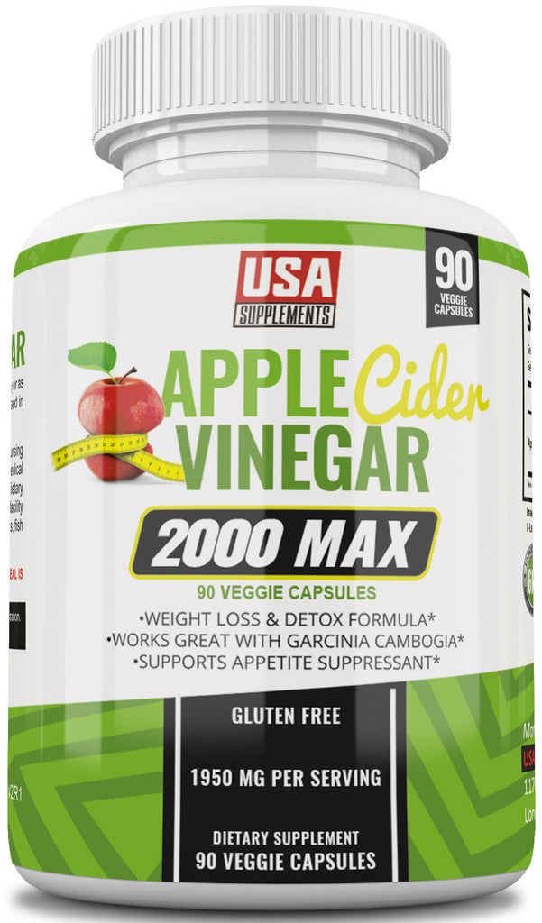 Apple Cider Vinegar Capsules for Weight Loss - Appetite Suppression and Detox Pills - U.S.A. SUPPLEMENTS