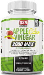 Apple Cider Vinegar Capsules for Weight Loss - Appetite Suppression and Detox Pills