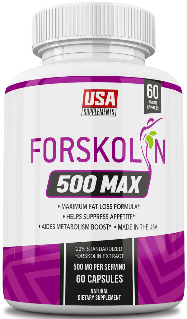 Forskolin 500 MAX Weight Loss Pills Only from USA Supplements. - U.S.A. SUPPLEMENTS