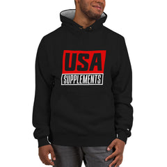 USA Supplements Black Champion Hoodie