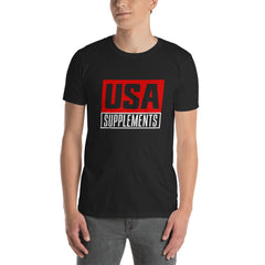 USA Supplements Black Short-Sleeve Unisex T-Shirt