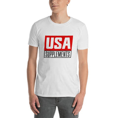 USA Supplements White Short-Sleeve Unisex T-Shirt