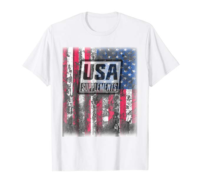 USA Supplements AMERICAN FLAG T-Shirt - U.S.A. SUPPLEMENTS