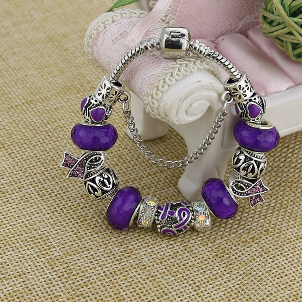 NEW ARRIVAL Purple Charm Bracelets