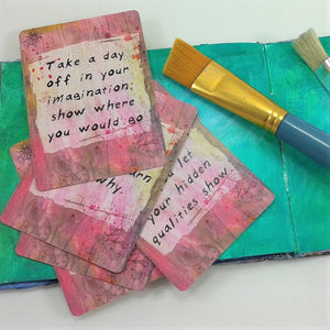 Inspiration Prompt Cards for Art Journaling