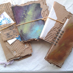 Art and Junk Journal in Progress