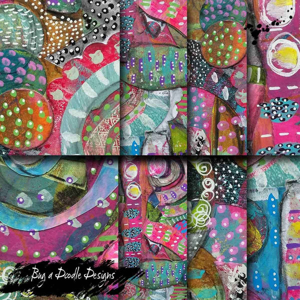 Collage Lace Printable Journal Pages - Bug a Doodle Designs