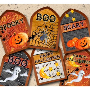 Halloween Printable Tag Sheet - Happy Haunting Tags - DPC