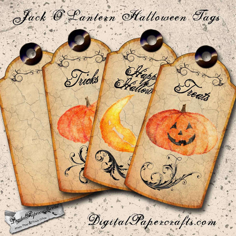 Jack O Lantern Halloween Printable Tags