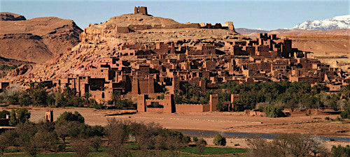 Kasbah Ait Ben Haddou near the Atlas Mountains where scenes of Gladiator and Games of Thrones were shot