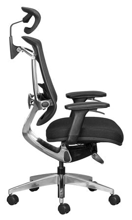 Alya office chair with synchro mechanism, mesh backrest and adjustable armrests