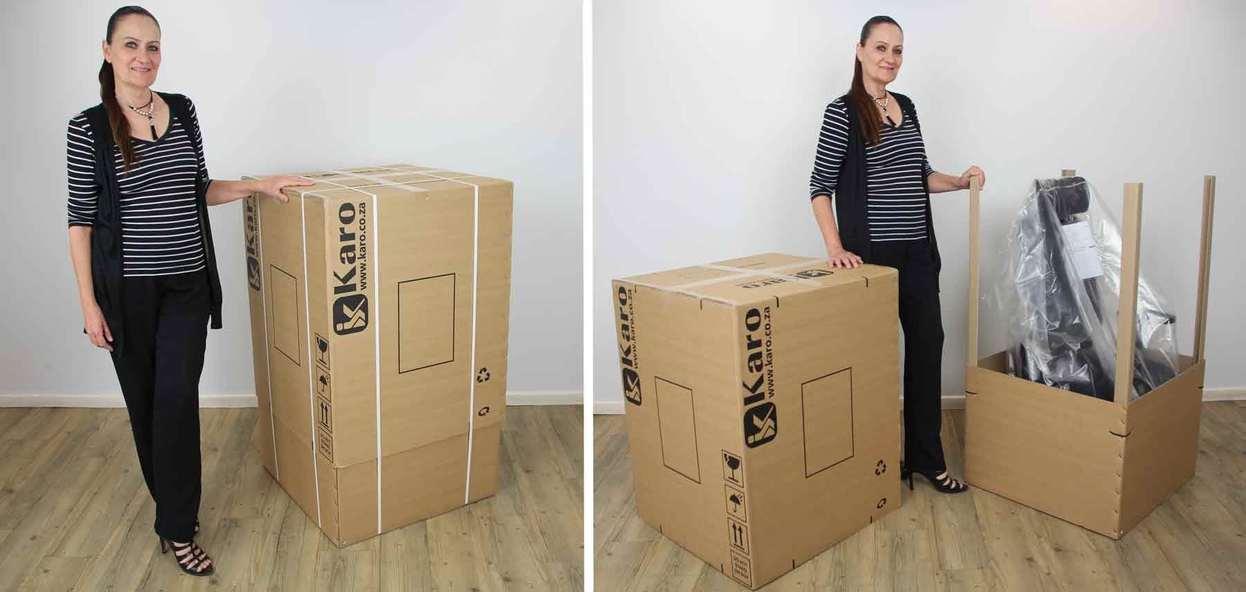 office chair boxed for delivery