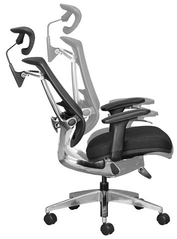 dynamic sitting with a synchro or synchronous chair swivel mechanism