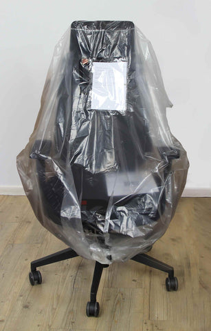 wrapped office chair ready for delivery