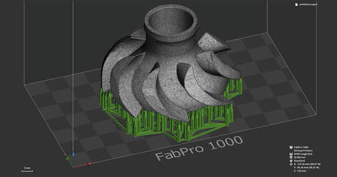 Preparing part files is easy with 3D Systems 3D Sprint software, which comes standard with every FabPro.