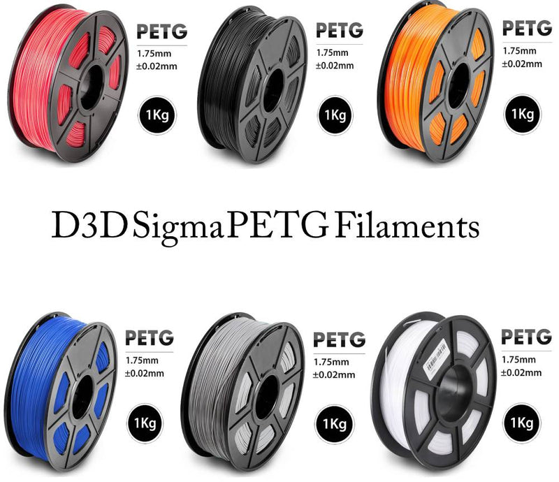 D3D Sigma PETG 1kg 1.75 mm  Spooled Various Colors - Digitmakers.ca